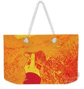 Perch Red Yellow Weekender Tote Bag