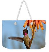 Perched Anna's Feeding Weekender Tote Bag