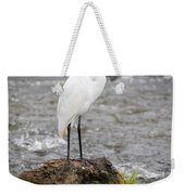Perched Great Egret Weekender Tote Bag