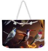 Perched Hummingbird Collage Weekender Tote Bag