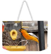Perched Oriole Weekender Tote Bag