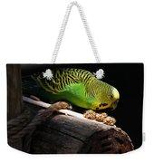 Perched Parakeet Weekender Tote Bag