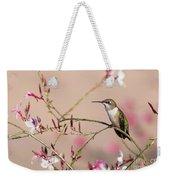 Perching Ruby-throated Hummingbird Weekender Tote Bag