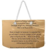 Percussion And Drums Why Music Picture Or Poster 4826.02 Weekender Tote Bag