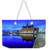 Perfect Riddarholmen Blue Hour Reflection Weekender Tote Bag