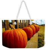 Perfect Row Of Pumpkins Weekender Tote Bag