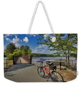 Perfect Weather For Cycling At Lake Brandt Weekender Tote Bag