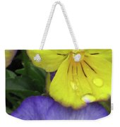 Perfectly Pansy 11 Weekender Tote Bag
