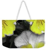 Perfectly Pansy 13 - Bw - Yellow Weekender Tote Bag