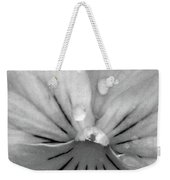Perfectly Pansy 15 - Bw - Water Paper Weekender Tote Bag