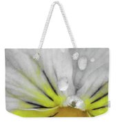 Perfectly Pansy 16 - Bw - Yellow Weekender Tote Bag