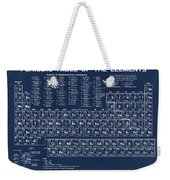 Periodic Table Of Elements In Blue Weekender Tote Bag