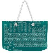 Periodic Table Of Elements In Green Weekender Tote Bag