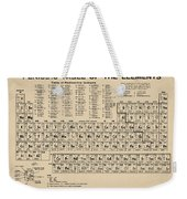 Periodic Table Of Elements In Sepia Weekender Tote Bag