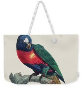 Perruche A Tete Bleue, Male / Rainbow Lorikeet, Male - Restored 19th Cent. Illustration By Barraband Weekender Tote Bag