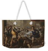 Perseus Turning Phineas And His Followers To Stone Weekender Tote Bag