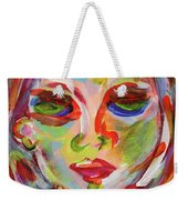Persistence - Contemporary Art Face Weekender Tote Bag