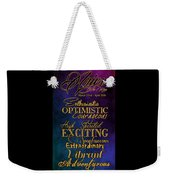 Personality Traits Of An Aries Weekender Tote Bag