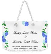 Personalized Wedding Invitations Weekender Tote Bag