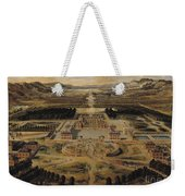 Perspective View Of The Chateau Gardens And Park Of Versailles Weekender Tote Bag