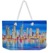 Perth Skyscrapers Skyline On The Swan River Weekender Tote Bag