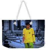 Peruvian Boy Weekender Tote Bag