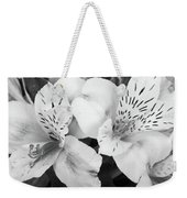 Peruvian Lilies  Flowers Black And White Print Weekender Tote Bag