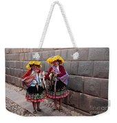 Peruvian Native Costumes  Weekender Tote Bag