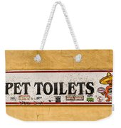 Pet Toilets Weekender Tote Bag