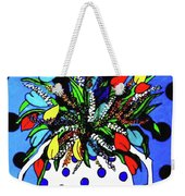Petals And Dots Weekender Tote Bag