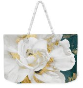 Petals Impasto White And Gold Weekender Tote Bag