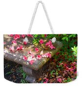 Petals On A Bench Weekender Tote Bag