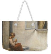 Peter Ilsted Danish, 1861-1933, On The Porch, Liselund Weekender Tote Bag