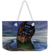 Peter Iredale Shipwreck Under Starry Night Sky Weekender Tote Bag