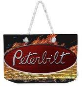 Peterbilt Emblem In Flames Weekender Tote Bag