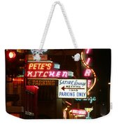 Pete's Kitchen Weekender Tote Bag