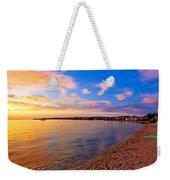 Petrcane Beach Golden Sunset View Weekender Tote Bag