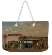 Petrified Gas Station After Rain Weekender Tote Bag