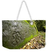 Petroglyphs At An Archaeological Site Weekender Tote Bag