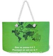 Petrole Et Geopolitique Weekender Tote Bag