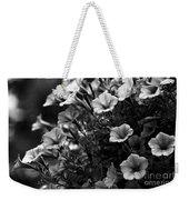Petunias 1 Black And White Weekender Tote Bag