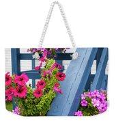 Petunias On Blue Porch Weekender Tote Bag