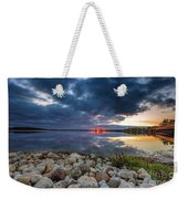 Pewaukee Lake Trail Weekender Tote Bag