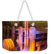 Pews Under Stained Glass Weekender Tote Bag