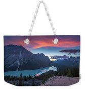 Peyto Lake At Dusk Weekender Tote Bag