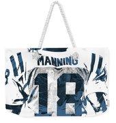 Peyton Manning Indianapolis Colts Pixel Art Weekender Tote Bag