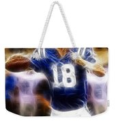 Peyton Manning Weekender Tote Bag by Paul Ward