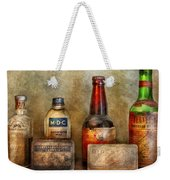 Pharmacist - On A Pharmacists Counter Weekender Tote Bag by Mike Savad