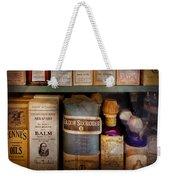 Pharmacy - Oils And Balms Weekender Tote Bag by Mike Savad