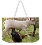 Pheasant And Lamb Weekender Tote Bag